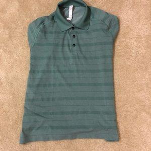 Lululemon Men's polo green turquoise shirt large